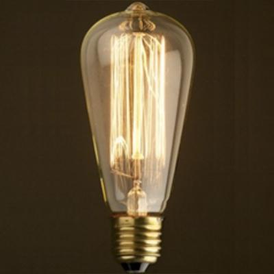 Lot de 4 ampoules edison filaments 60w lampes et for Suspension ampoule design
